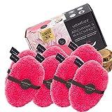 waschies® Faceline Waschbare Abschminkpads Edition Pink/Weiss 7er Set | Feinster Fasermix aus Mikrofaser und Viskose, porentiefe und hautschonende Reinigung | Nachhaltig nur mit Wasser