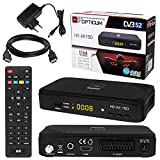 SATELLITEN SAT Receiver  HB DIGITAL DVB-S/S2 Set: Hochwertiger DVB-S/S2 Receiver + HDMI Kabel mit vergoldeten Anschlüssen (HD Ready HDTV HDMI SCART USB 2.0, Koaxial Ausgang, Opticum AX150)