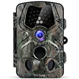 Victure Fotofalle Wildkamera 12MP 1080P Low Glow Infrarot LEDs Beobachtungsmonitore mit bewegungsmelder Nachtsicht Wasserdicht Jagdkamera Überwachung von Eigentum und Tieren