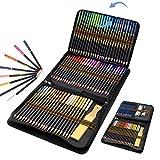 Buntstifte, Künstlerfarbstifte Set 96 Stück mit Reißverschluss für einfache Aufbewahrung und Schutz, Farbstifte Zeichnen Bleistift Kombination, ideales für Kinder, Erwachsene und Künstler
