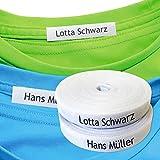 Namensaufkleber Kleidung (100 stück), Personalisierbare Bügeletiketten, Kleidung Namensetiketten Thermo-Klebstoff. Etiketten für Eisen. Namensetiketten kinder, Etiketten Schule. (80% Baumwolle, 20% Polyester)