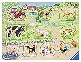Ravensburger 3689 Morgens auf dem Bauernhof 03689-Morgens Kinderpuzzle Holz