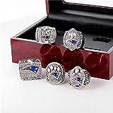 C-G Sportfans Kollektion Champion Rings Fans Herren Memorial Rings High-End Kollektionen Fans Alloy Rings Herren Accessoires Vintage Accessoires, Boxenset, 8