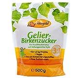 Birkengold Gelier-Birkenzucker (Xylit), 500g   für 1, 5 kg Früchte   3 Teile Frucht: 1 Teil Gelier-Birkenzucker   ohne Zucker   vegan   mit europäischem Xylit aus Birken- und Buchenrinde