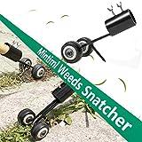 MHDYT Unkrautstecher, Rasentrimmer Werkzeug für Rasenflächen mit Rädern, Unkrautrasierer Rasenmäher für Garten, Unkraut von Zufahrten entfernen, Bürgersteige, Terrasse