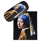 VON LILIENFELD Brillenetui Jan Vermeers: Das Mädchen mit dem Perlenohrring Geschenk Stabil Leicht Set mit Putztuch Box Hardcase Kunst