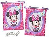 alles-meine.de GmbH 2 TLG. Set Sonnenschutz Rollo - Disney Minnie Mouse - für Fenster und Auto Seitenscheibe - Sonnenblende - Mädchen Kinder Baby - Sonnenrollo - Maus Mäuse Schle..