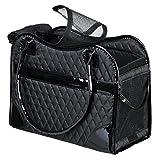 TRIXIE Tasche Amina für Hunde, 18 × 29 × 37 cm, Schwarz