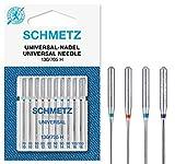 SCHMETZ Nähmaschinennadeln: 10 Universal-Nadeln, Nadeldicke 70/10-100/16, Nähset, 130/705 H, auf jeder gängigen Haushaltsnähmaschine einsetzbar