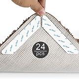 Suny Smiling Teppichgreifer Antirutschmatte, 24 Stück Waschbar Antirutschmatte für Teppich Wiederverwendbar Teppichunterlage Aufkleber Starke Klebrigkeit