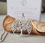 Halskette mit Anhänger Lebensbaum 925 silber