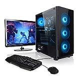 Megaport Komplett-PC AMD Ryzen 5 2600 6x3.40 GHz • GeForce GTX1050Ti • 24' Monitor+Tastatur+Maus • 16GB RAM • 1TB • Windows 10 Home • Gamer PC • Gaming Computer • Desktop PC • Gamer Computer • Rechner