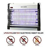 Seekavan Insektenvernichter Mückenlampe elektrische Leistungsstarke Fliegenfalle, UV-Licht 20W (2x10W), 3000V, 80 m² Nutzfläche für Innenräume, Gärten