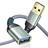 AINOPE 2 Stück 1M+2M USB Verlängerung Kabel USB 3.0 Verlängerungskabel A Stecker auf A Buchse mit eleganten Alluminiumsteckern, Nylon Stoffmantel für Kartenlesegerät,Tastatur, Drucker, Scanner