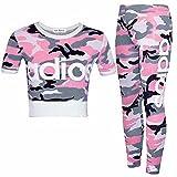 Guba® Mädchen-Top und Leggings, 2-teiliges Set, Camouflage, 7-13 Jahre Gr. 9-10 Jahre, Adios Pink Camouflage