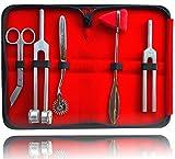 Neurologie Set für Reflexzonen und Sensibilitätsdiagnostik mit Nervenrad Reflexhammer Verbandsschere und Stimmgabel mit 512 Hz und 128 Hz (Reflex Set)