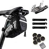 BAONUOR Fahrrad Multitools 16-in-1Fahrrad Reparatur Werkzeug Set, Faltbares Multifunktionswerkzeug MTB Flickzeug Reifenheber mit Satteltasche