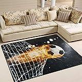 Use7 Fantasy Fußball-Teppich für Wohnzimmer, Schlafzimmer, Textil, Mehrfarbig, 160cm x 122cm(5.3 x 4 feet)