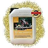 EMMA® Teebaumöl Pferdeshampoo I Hundeshampoo I Pflegeshampoo Teebaum-Öl gegen Juckreiz I Pferde Shampoo empfindlicher Haut I Detangle I Mane n Tail Shampoo reinigt, juckende Haut 2500ml