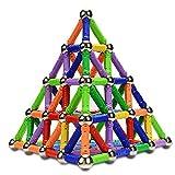 McDou Magnetische Stöcke, Magnetische Stöcke & Bälle Set 140 STÜCKE, Magnetische Gebäude Sticks, Magnetische BAU Spielzeug, Magnetische Blöcke Sticks Lernspielzeug Für Kinder (Über 6 Jahre Alt)