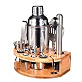 Cocktail Shaker Set,Esmula 750ML Edelstahl Barkeeper Kit Professionelles Martini Mixing Bartending Kit Kombination, Home Stylish Bar Tool Set mit Cocktail Rezeptheft