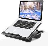HUANUO Laptopkissen Höhenverstellbar, für max. 15,6' Notebook, Ipad, Tragbarer Laptoptisch für Reisen, Arbeiten, Zuhause