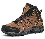 Kinder Wanderschuhe Jungen Wanderstiefel Mädchen Outdoor Trekking Schuhe rutschfeste Mid Trekkingstiefel für Unisex Herren Damen Braun EU40 - Etikett 41