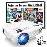 Beamer, DR.Q Mini Beamer 3800 Lumen Full HD, Projektor Tragbar Videoprojektor unterstützt 1080P, LED 50000 Stunden Heimkino Beamer Kompatibel mit HDMI VGA AV USB TF, Mehrweg