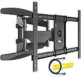 Invision TV Wandhalterung für 37-70 Zoll Bildschirme, Schwenkbare Neigbare und Ausfahren TV Halterung für Flache und Gebogene Fernseher, Max. Gewichtskapazität 50kg, Max. VESA 600x400mm (HDTV-DXL)