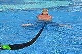 BodyCROSS Schwimmtrainer   optimales Schwimmen ohne Gegenstromanlage   für jeden Pool geeignet   gepolsterter Schwimmgürtel   Aqua-Tube von 1 - 20kg Zugkraft   Sport und Spaß für die Familie   Made in Germany