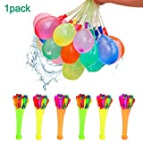 KIACIYA Bunch o Balloons, 111 Wasserbomben in 60 Sekunden, Selbstschließend Ohne Knoten, 3 Bündel mit je 37 Wasserbomben, Wasserballons Water Balloons für Kinder Wasserbomben Schlacht (Mixed-1pcs)