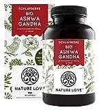 NATURE LOVE® Bio Ashwagandha - Einführungspreis - Hochdosiert mit 1950mg je Tagesdosis - 240 Kapseln - Premium: Original indische Schlafbeere - Laborgeprüft - hergestellt in Deutschland