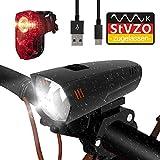 PUTARE LED Fahrradlicht Set,【Aktualisiert】 StVZO Zugelassen USB Wiederaufladbare Fahrradbeleuchtung Fahrradlampe Vorne/Rücklicht, IPX5 Wasserdicht Fahrradlichter mit 2 Licht-Modi