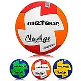 meteor® Nuage Handball Kinder Jugend Damen ideal auf die Kinderhände abgestimmt idealer Handbälle für Ausbildung weicher handballen mit griffiger Oberfläche (Kinder #0 (47-49 cm), Rot/Orange)