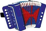 """small foot 3318 Akkordeon """"Blau"""", fördert das Musik- und Taktgefühl, Musikinstrument mit Gurt, ab 3 Jahren"""