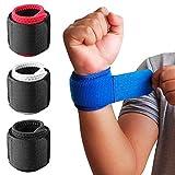 1 Paar Handgelenkbandagen mit verstellbarem Riemen zur Unterstützung und Stabilisierung beim Sport und Fitness Blau