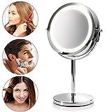 Medisana CM 840 runder Kosmetikspiegel - Tischspiegel mit LED-Beleuchtung und 5-facher Vergrößerung - Schminkspiegel mit 360° Schwenkfunktion