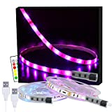 LED-Strip, 6M USB LED Streifen 2 X 3M SHINELINE RGB LED Band 5050SMD Lichtband mit 24 Tasten Fernbedienung 16 Farben 4 Modi dimmbar LED TV Hintergrundbeleuchtung für Zuhause, Schlafzimmer, TV