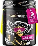GAINMONKEY® Creatin Monohydrat Pulver - Vegan und ohne Zusätze I 500g reines Creatine Monohydrate Pulver I Extrem beliebt bei Sportlern I Made in Germany