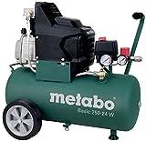Metabo Kompressor Basic inkl. LPZ 4- Zubehör Set (1500 Watt, 24 Liter, 8 bar, Ansaugleistung 220 Liter/Minute , Druckminderer, Überlastschutz, Ölfrei) 601532000, 601585000