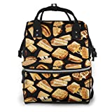Damen Rucksack mit Reißverschluss, großes Fassungsvermögen, Schwimmwindeln, Grillkäse, Sandwiches