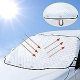 Tevlaphee Auto Sonnenschutz Frontscheibe Windschutzscheiben Abdeckung 3 Magnet UV-Schutz für Sommer Wintergegen Schnee, EIS, Frost, Staub, Sonne Faltbare Abnehmbare 193*126cm