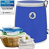 Syntrox Germany 3 Kg WM-380W Waschmaschine mit Schleuder Campingwaschmaschine Mini Waschmaschine (Blau)