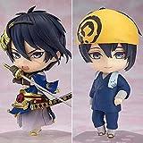 Geschenk Spielzeug Anime Statue 10cm 2pcs / set Anime Schwert Flurry Online Mikazuki Munechika Q Version Karikatur PVC-Puppe-Modell-Spielzeug Mini-Puppe Anime Superheld Statuen Geschenk LDWY155 8bayfa