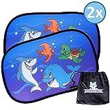 BabyBengal Sonnenschutz für Ihr Baby mit UV Schutz - Sonnenblenden-Set für Kinder im Auto - Blendschutz mit Tiermotiven inklusive praktischer Tasche