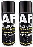 Alex Flittner Designs Thermolack Spray 2 Spraydosen Ofenlack Auspufflack Hitzebest. 650 °C Schwarz 400ml
