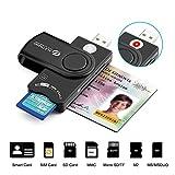 Eletrand USB 2.0 Chipkartenleser   Elektronischer ID Kartenleser und CAC Smart Card Reader   SD/Micro SD/M2/MS/SIM Karten Adapter   Kompatibel con Windows (32/64bit) XP/Vista/7/8/10, Mac OS und Linux