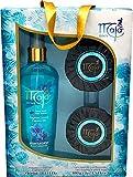 Maja Geschenkset Aqua Turquesa - zwei hochwertige Duftseifen und ein Bodyspray in luxuriöser Geschenkbox - belebender Duft - Geschenkidee, Geburtstag
