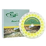 SF Fliegenfischen Schwimmende Linie mit geschweißter Schlaufe Gewicht Vorwärts Fliegenschnüre # gelb 100FT WF9F