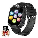 Smartwatch Kinder Telefon - Spiel Musik Kids Smart Watch [1 GB Micro SD Enthalten] mit Anruf Kamera Spiele Wecker Musik Player für Jungen Mädchen Alter 3-12 (Schwarz)